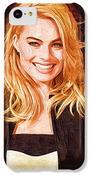 Margot Robbie Painting IPhone 5c Case by Best Actors