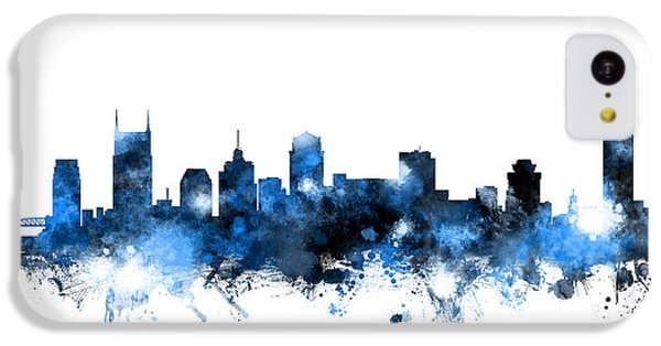 Nashville Tennessee Skyline IPhone 5c Case by Michael Tompsett