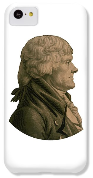 Thomas Jefferson IPhone 5c Case by War Is Hell Store