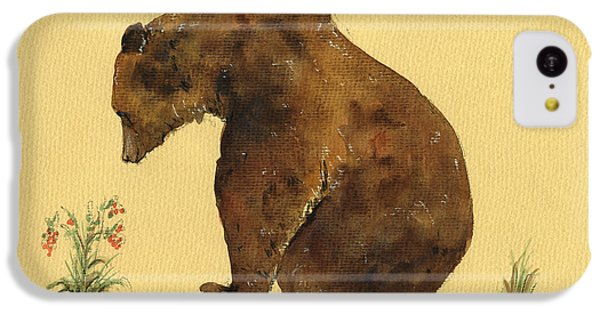 Grizzly Bear Watercolor Painting IPhone 5c Case by Juan  Bosco