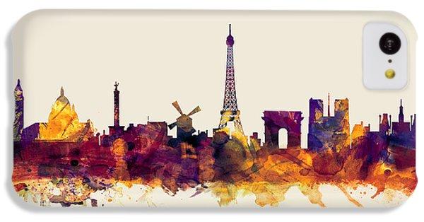 Paris France Skyline IPhone 5c Case by Michael Tompsett