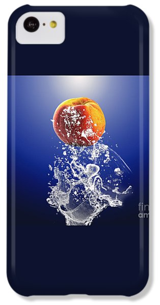 Peach Splash IPhone 5c Case by Marvin Blaine