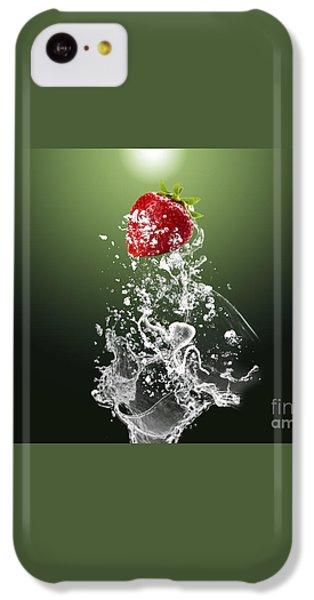 Strawberry Splash IPhone 5c Case by Marvin Blaine