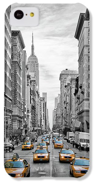 5th Avenue Yellow Cabs - Nyc IPhone 5c Case by Melanie Viola