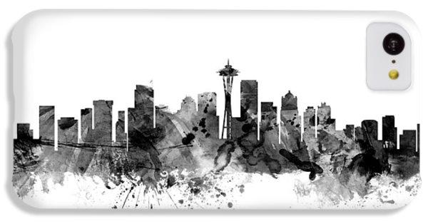 Seattle Washington Skyline IPhone 5c Case by Michael Tompsett