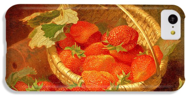 A Basket Of Strawberries On A Stone Ledge IPhone 5c Case by Eloise Harriet Stannard