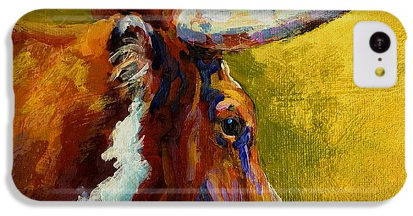 A Couple Of Pointers - Longhorn Steer IPhone 5c Case by Marion Rose