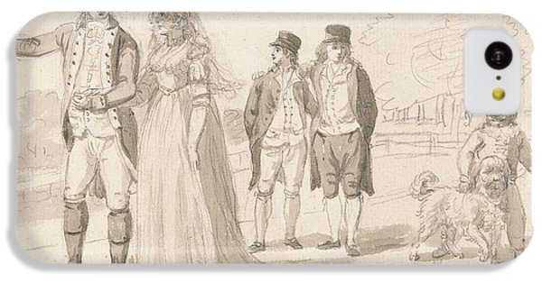 A Family In Hyde Park IPhone 5c Case by Paul Sandby