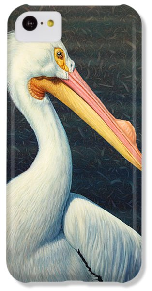 A Great White American Pelican IPhone 5c Case by James W Johnson
