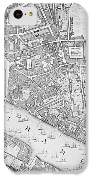 A Map Of The Tower Of London IPhone 5c Case by John Rocque