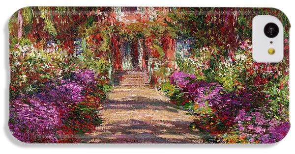 A Pathway In Monets Garden Giverny IPhone 5c Case by Claude Monet