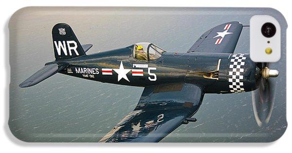 A Vought F4u-5 Corsair In Flight IPhone 5c Case by Scott Germain