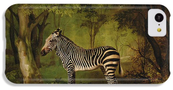 A Zebra IPhone 5c Case by George Stubbs
