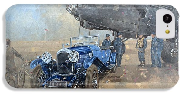 Able Mable And The Blue Lagonda  IPhone 5c Case by Peter Miller