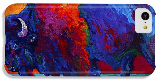 Abstract Bison IPhone 5c Case by Marion Rose