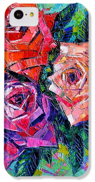 Abstract Bouquet Of Roses IPhone 5c Case by Mona Edulesco