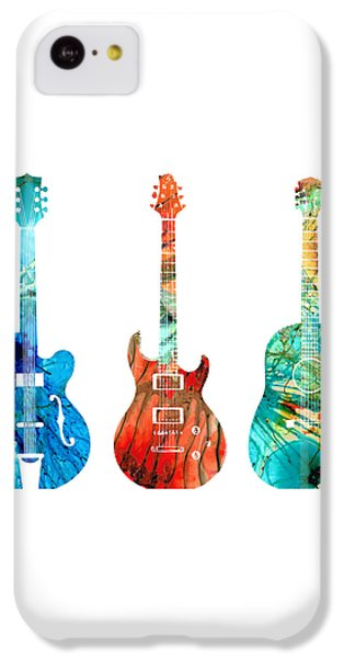 Abstract Guitars By Sharon Cummings IPhone 5c Case by Sharon Cummings