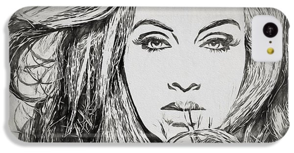 Adele Charcoal Sketch IPhone 5c Case by Dan Sproul