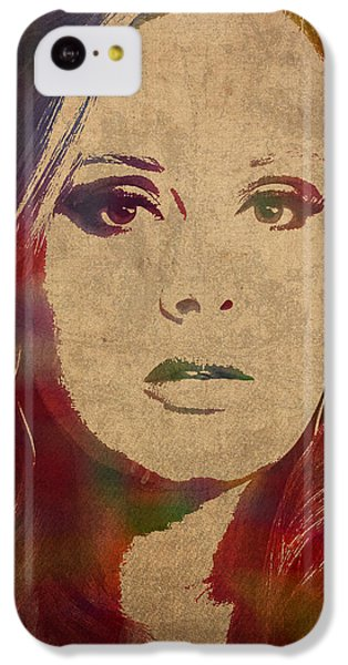 Adele Watercolor Portrait IPhone 5c Case by Design Turnpike