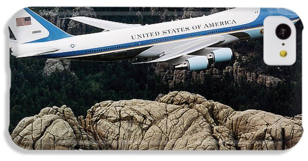Air Force One Flying Over Mount Rushmore IPhone 5c Case by War Is Hell Store