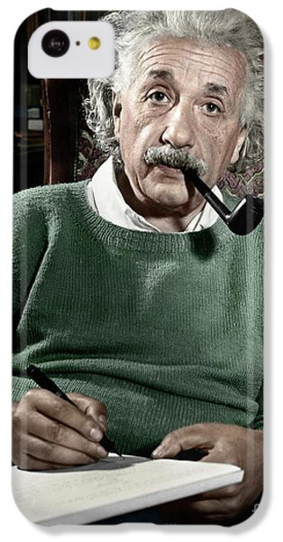 Albert Einstein IPhone 5c Case by Granger