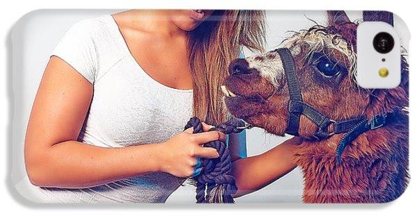 Alpaca Mr. Tex And Breanna IPhone 5c Case by TC Morgan