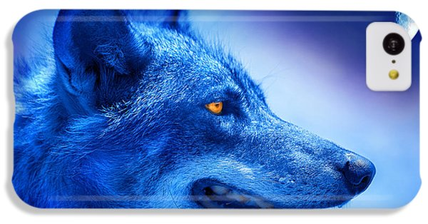 Alpha Wolf IPhone 5c Case by Mal Bray