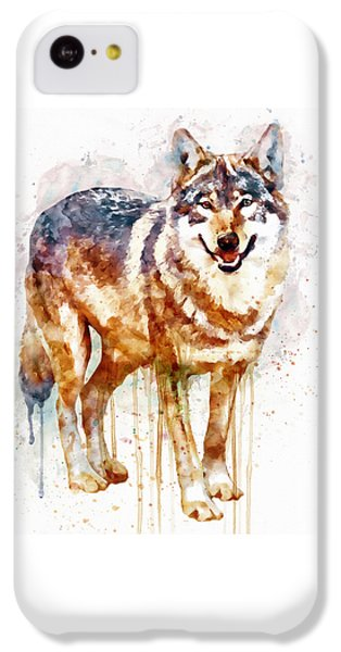Alpha Wolf IPhone 5c Case by Marian Voicu
