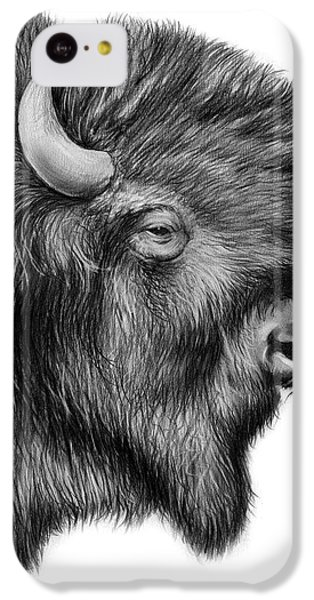 American Bison IPhone 5c Case by Greg Joens