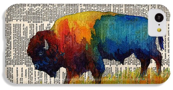 American Buffalo IIi On Vintage Dictionary IPhone 5c Case by Hailey E Herrera