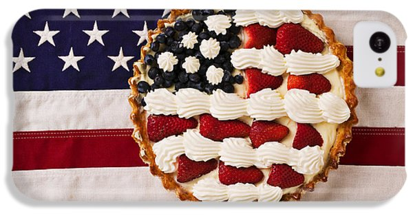 American Pie On American Flag  IPhone 5c Case by Garry Gay
