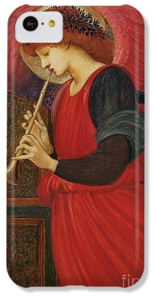 An Angel Playing A Flageolet IPhone 5c Case by Sir Edward Burne-Jones