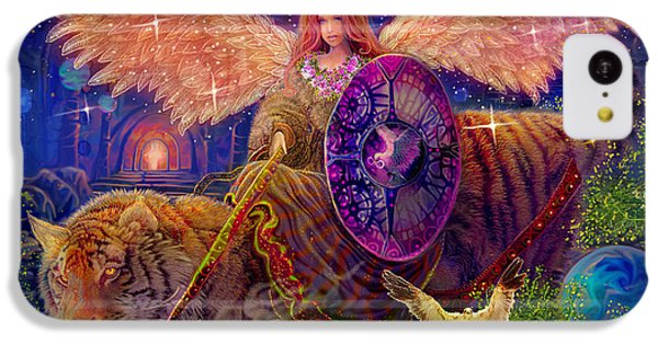 Angel Tarot Card Angel Fairy Dream IPhone 5c Case by Steve Roberts