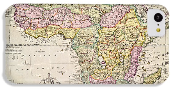 Antique Map Of Africa IPhone 5c Case by Pieter Schenk