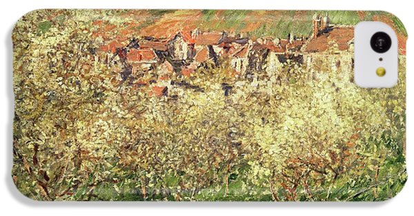 Apple Trees In Blossom IPhone 5c Case by Claude Monet