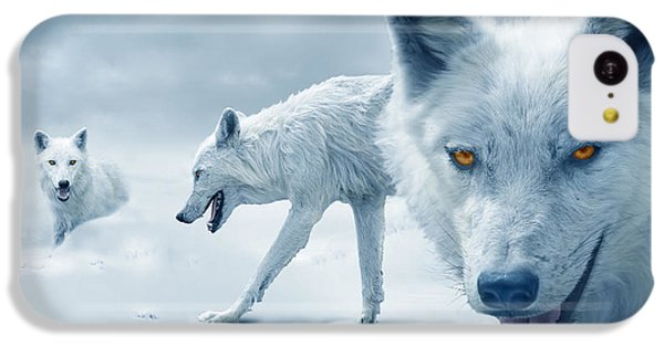 Arctic Wolves IPhone 5c Case by Mal Bray