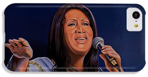 Aretha Franklin Painting IPhone 5c Case by Paul Meijering