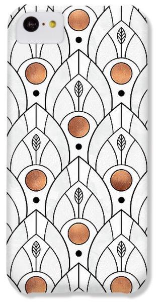 Art Deco Leaves 1 IPhone 5c Case by Elisabeth Fredriksson