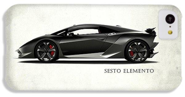 Lamborghini Sesto Elemento IPhone 5c Case by Mark Rogan