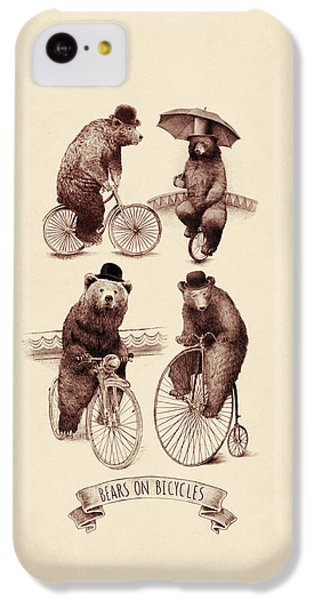 Bears On Bicycles IPhone 5c Case by Eric Fan