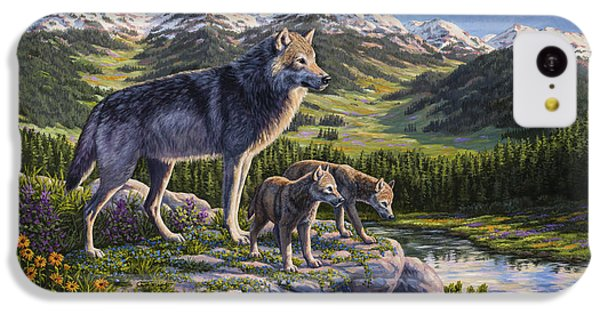 Wolf Painting - Passing It On IPhone 5c Case by Crista Forest