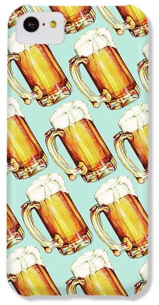 Beer Pattern IPhone 5c Case by Kelly Gilleran