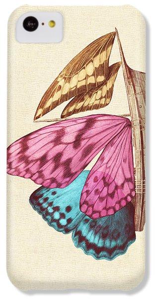 Butterfly Ship IPhone 5c Case by Eric Fan