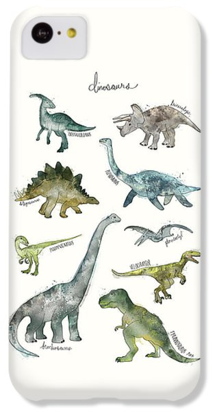 Dinosaurs IPhone 5c Case by Amy Hamilton