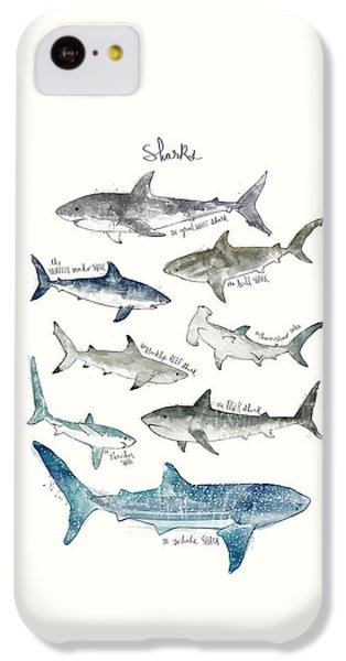Sharks IPhone 5c Case by Amy Hamilton
