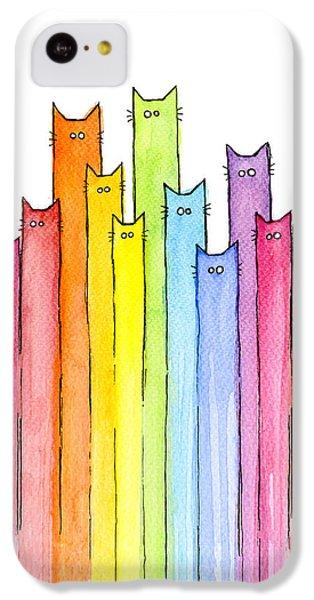 Cat Rainbow Pattern IPhone 5c Case by Olga Shvartsur