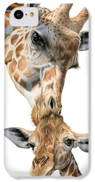 Mother And Baby Giraffe IPhone 5c Case by Sarah Batalka