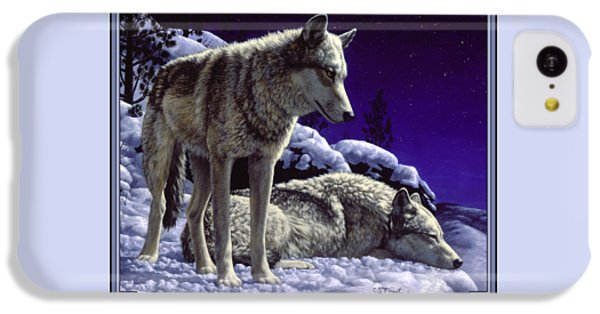 Wolf Painting - Night Watch IPhone 5c Case by Crista Forest