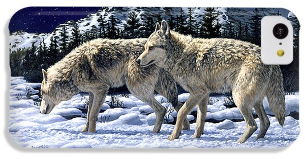 Wolves - Unfamiliar Territory IPhone 5c Case by Crista Forest