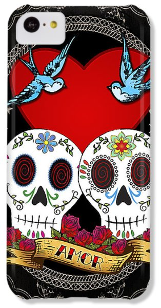 Love Skulls II IPhone 5c Case by Tammy Wetzel